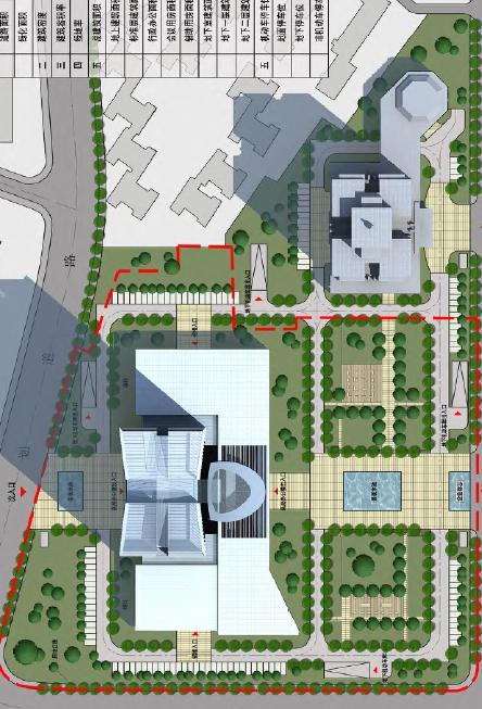 武汉铁四院总部大楼设计投标方案——同济大学建筑院