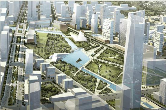 绿色设计方案中也包括绿色屋顶,led灯,75%的建筑垃圾将被循环使用